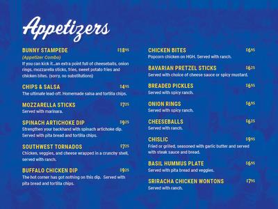 Sports Bar menu menu restaurant bar athletics baseball sports