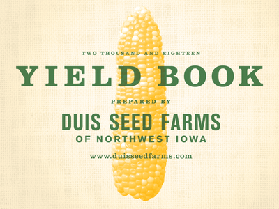 Yield book cover burlap yield book corn agriculture