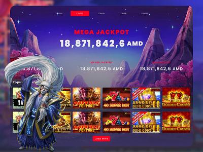 Jackpot Page Design branding illustration figma website web ux ui design