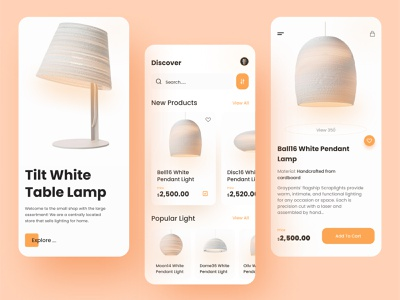 luxury lighting e commerce mobile app home decor ecommerce shop online shop buy light shoping best design clean design typhography product design ux design ui design luxury shopping ecommerce lightning light ui design delivery app