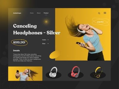 Headphone eCommerce Store music player headphone web design headphone online ecommerce website online marketing ecommerce delivery app uiuxdesign uiux design clean design ui design ui best design online shop
