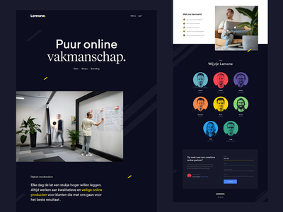 Lemone website ux mobile app dutch portfolio typography illustration animation agency responsive branding web logo website ui design