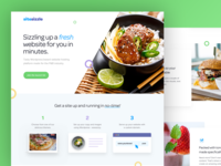 Sitesizzle landing page logo web concept ui branding website clean design fresh food landing page