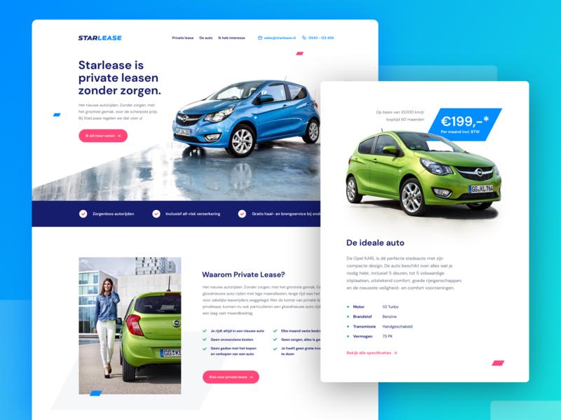 Starlease branding logo ux design blue interaction ux webdesign web design rent lease concept car