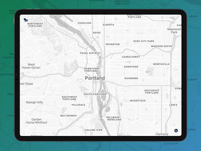 Daily UI :: 029 - Map premiere pro figma pdx portland map design map dailyui 029 dailyuichallenge dailyui