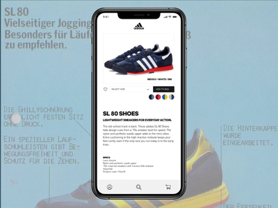Daily UI :: 033 - Customize Product figma animation store app design sneakers trainers adidas customize product daily  ui 033 daily ui challenge daily ui