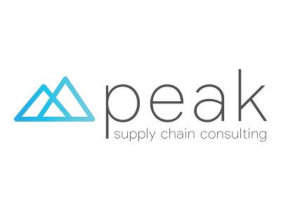 Peak Logo gradient minimal mountain logo design logo