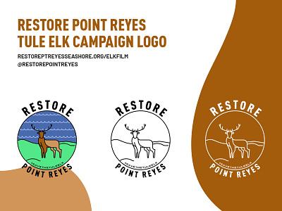 Restore Point Reyes campaign photoshop illustrator national park conservation animal welfare instagram social media logo