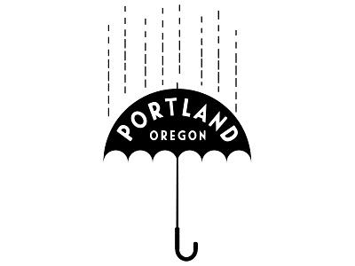 Portland Umbrella portlandia midcentury illustration illutrator