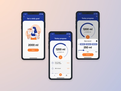 The app for water tracking app ui mobile ui mobile app design tracking app tracker water ui  ux mobile design mobile app app design ux illustration figma design interface webdesign web ui design ui design inspiration design