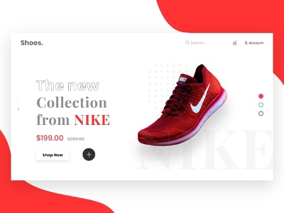 product landing page design in adobe xd, ui ux design landing page design website design ui design web template shoe store ui ux design shoe app product landing page product page shoe shop landing page landing page ui adobe xd templates adobe xd