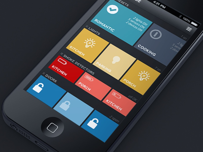 Home automation app by jack 39 s design dribbble for Best home design app
