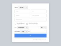 Google mail advance search redesign