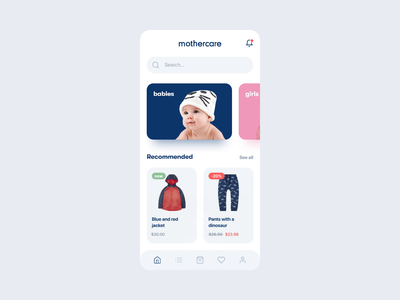 eCommerce App Concept Design for Mothercare user interface design user interface uxui ux ui retail store retail mobile ui mobile design mobile app design mobile app mobile ecommerce shop ecommerce design ecommerce app ecommerce
