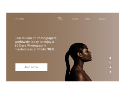 Landing page for a photography company figmauidesignlandingpage
