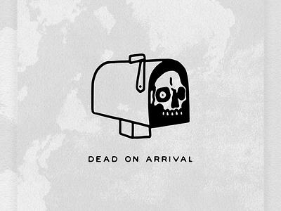 DEAD ON ARRIVAL skull logo typedesign custom type hand lettering font type lettering illustrator skull