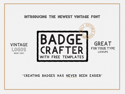 Badge Crafter - Font + Logo templates calligraphy hand lettering lettering illustrator template badge typography font logo