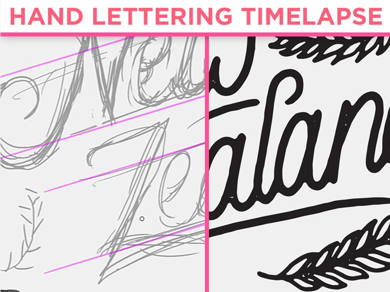 Hand Lettering Timelapse custom typography calligraphy script branding typography type lettering hand lettering