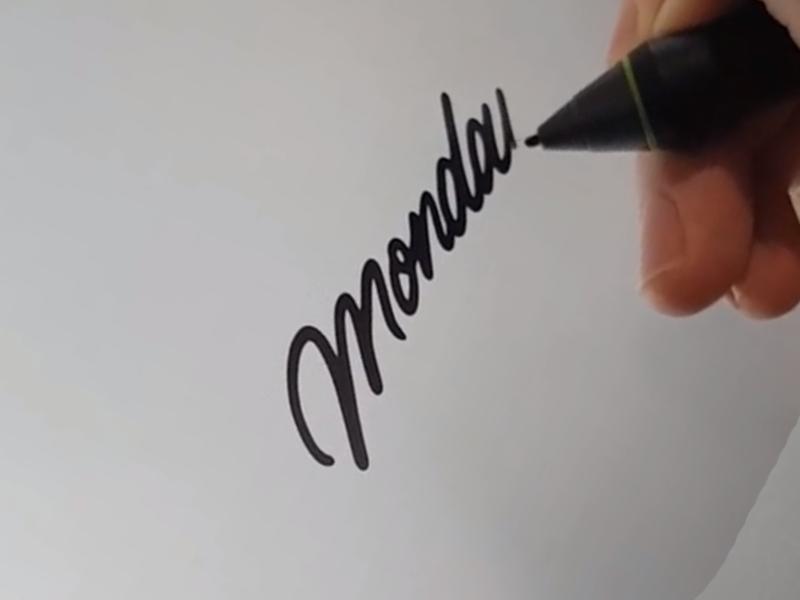 Monday script black blackwork traditional tattoo texture vintage script hand lettering lettering tattoo illustration typography type