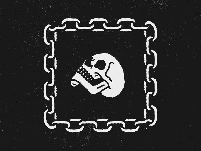 Skull in chains dribbble