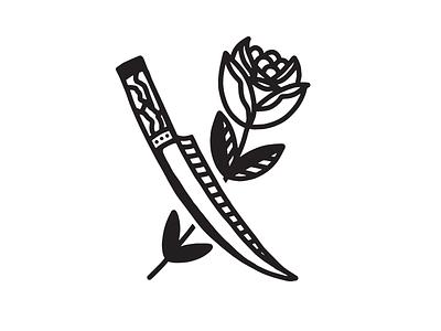 Blade / Flower Illustration blackwork tattoo art flower tattoo illustration
