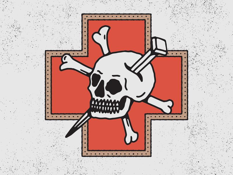 Skull Crossbones traditional tattoo tattoo skull illustration texture