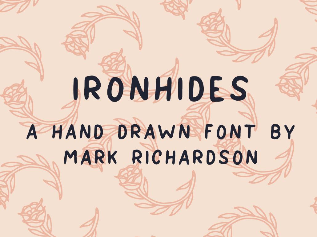 IRONHIDES Font flat typography type hand lettering branding tattoo illustration logo lettering font