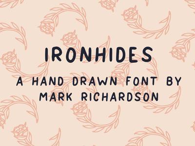 IRONHIDES Font