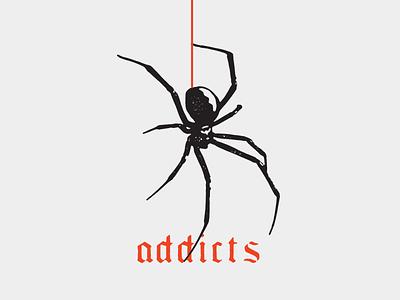 Addicts vector texture illustration design lettering