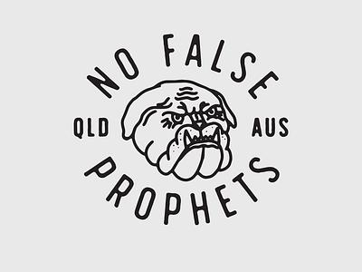 No False Prophets tattoo black type vintage texture hand drawn illustration lettering