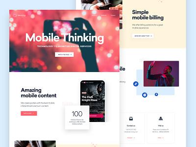 Telecoming Corporate Site branding ui ux design ui design ux design landing