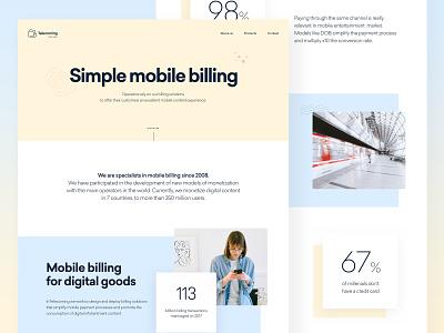 Telecoming Corporate Site website ui design ux design branding landing ux web uidesign ui design