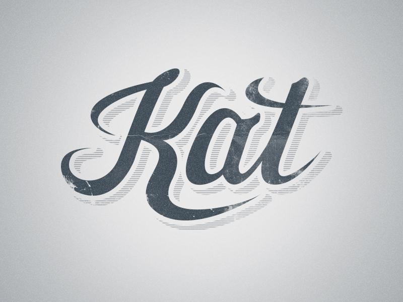 Kat Script kat logo handwriting script