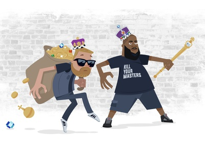 Art the Jewels el-p killer mike crown jewels crown illustration run the jewels