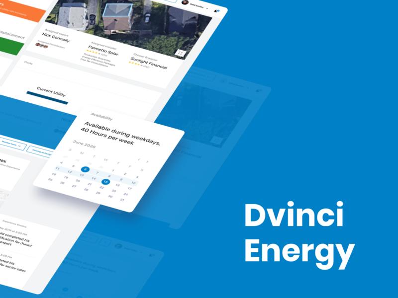 Dvinci Energy - Sales Platform branding analytics analytics dashboard automation tech