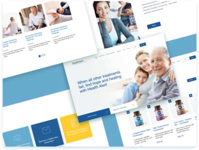 Health Alert - Medical Redesign website supplements health medical