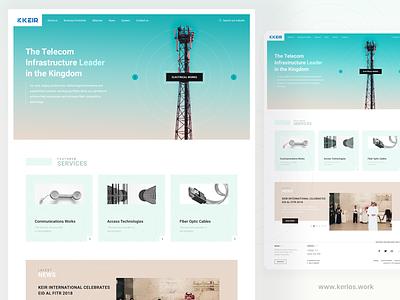 Keir Homepage - Corporate Design corporate industrial homepage design ui  ux design webdesign web
