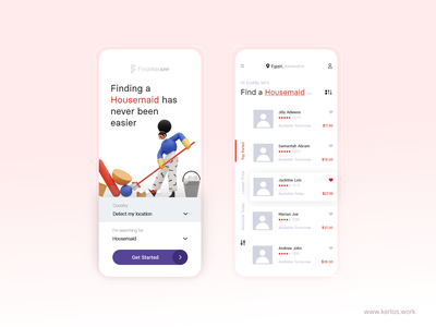 Finorker app - Walk Through & Results mobile ui app app design uiux ui ui  ux design