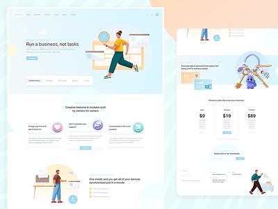 Creatodo - Web App Landing Page inspiration illustrations ux ui home screen website design landing page design app webdesign