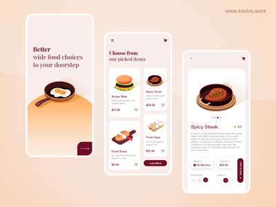 Food Delivery App interaction ux uidesign mobile app mobile ui mobileapp