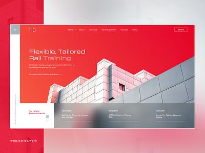 TIC Homepage Re-design uiux webdesign website uidesign instruction homepage landing page design uxui ux