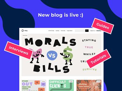 New Briefbox blog live! typography vector branding homepage illustration ui designers practice design design briefbox