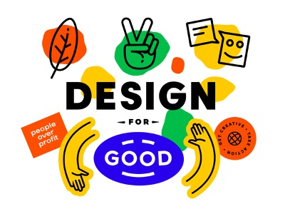 Design For Good By Briefbox design education charity eco colour splodge fun badge hands learn course