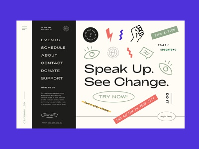 Speak Up See Change Artwork illustration design ux ui landing page education homepage practice design briefs briefbox brand