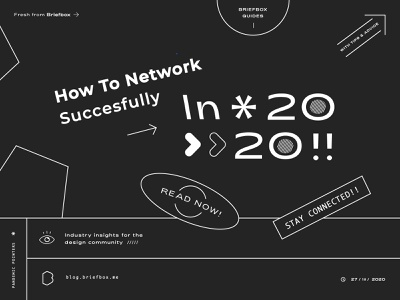 Networking Article Cover for Briefbox mono stroke cover layout design brand ui