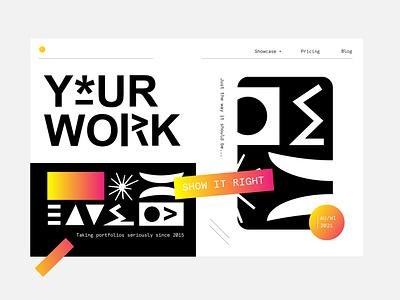 Your Work Layout pattern brand gradient mono palyful fun shapes icon type brandillustration ui