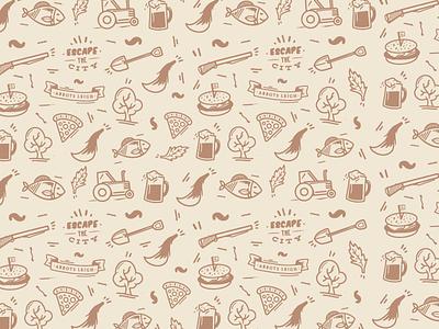 George Inn Pattern pattern icon countryside outdoors british food pub shotgun tail pizza fish burger