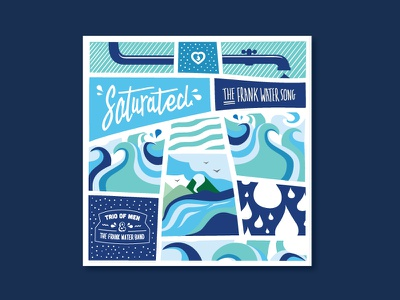 Frank Water Saturated Album Artwork fresh abstract patterns drops waves water