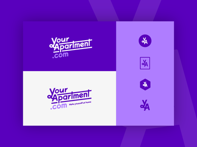 Your Apartment brand options corporate playful badge monogram style tile logo brand