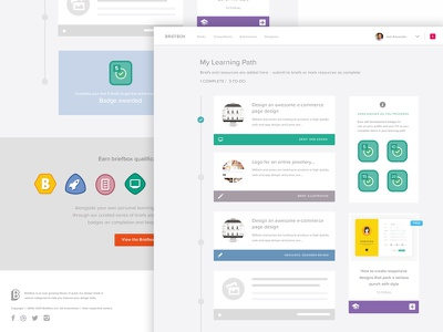 Learning Path UI layouts tuition education process timeline dashboard ui design briefbox